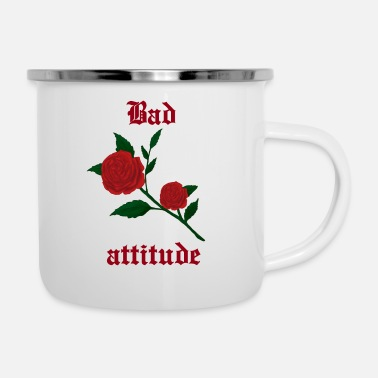 Emo Bad attitude heart rose gothic culture gift idea - Enamel Mug