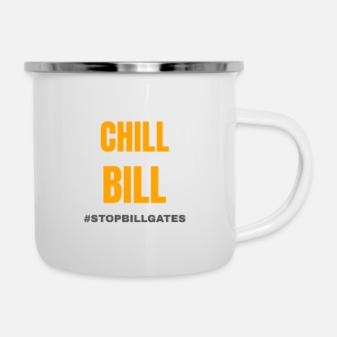 Mobile chill bill gates - Enamel Mug