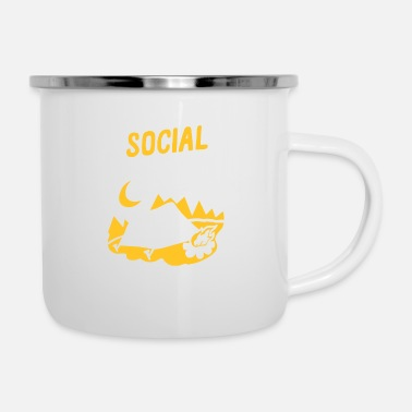 Wear I Was Social Distancing Before It Was Cool - Enamel Mug