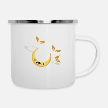 Soul Moon Plant Nature Spiritual And Nature Person Gift - Enamel Mug