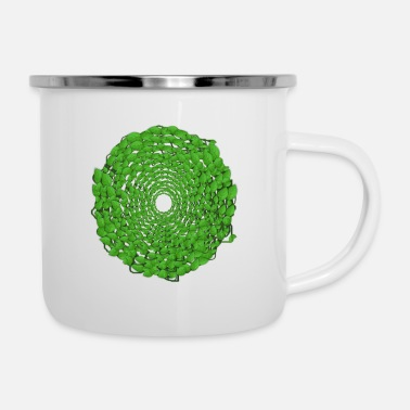 Form Leaf Vortex - Enamel Mug