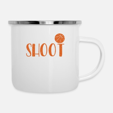 Up Basketball-I Dribble Shoot And Look This Cute - Enamel Mug