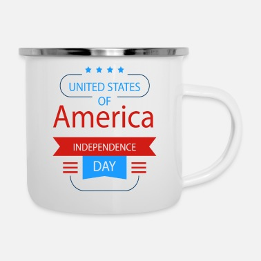 Military United States Of America Independence Day - Enamel Mug