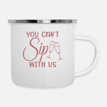 Hen Can't Sip With Us - Bachelorette Party Bride Gift - Enamel Mug