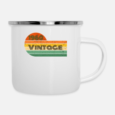 December 1960 Born Birthday Vintage Sunset - Enamel Mug