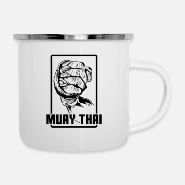 Fan Muay Thai Fist - Enamel Mug