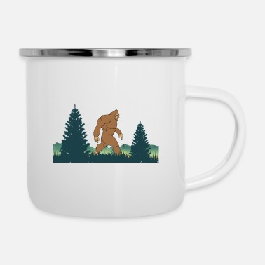 Chimpanzee Bigfoot-Saw Me But Nobody Believes Him - Enamel Mug