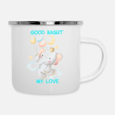 Night ELEPHANT GOOD NIGHT - Enamel Mug