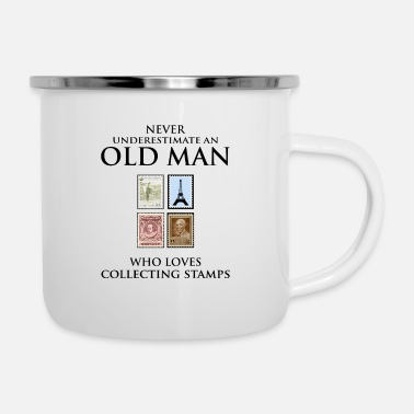 Stamp Stamp Collecting Collector Dad Grandpa Fathers Day - Enamel Mug