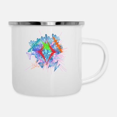 Jazz teh explosion of music shows it beauty and power - Enamel Mug