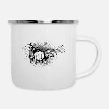 Punch Punch Rock - Enamel Mug
