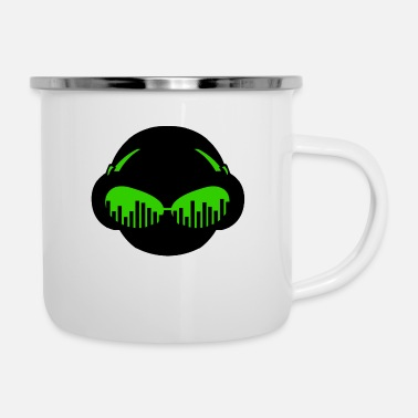 Dj &amp Music Sunglasses - Enamel Mug