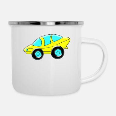 Sporty cartoon Sporty Car - Enamel Mug