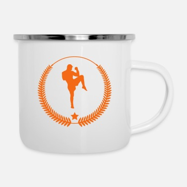 Suit Kickboxing - Kickboxer - Fight - Enamel Mug