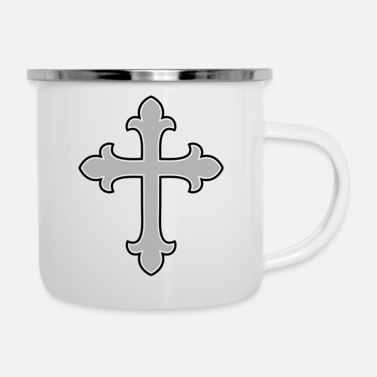 Love Mugs & Drinkware - Cross - Enamel Mug white