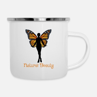 Beautiful Natural Beauty Butterfly - Enamel Mug