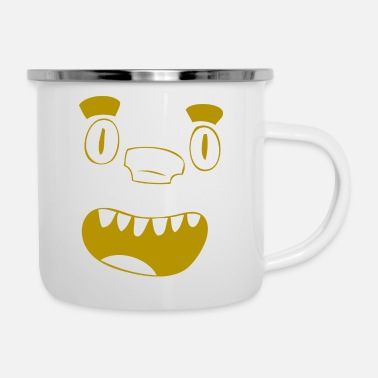 Puzzle Gold laughing puzzle nose face - gift, gift idea - Camper Mug