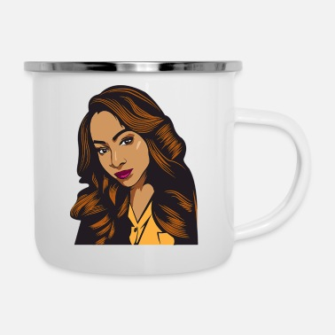 Pride Pretty lady Fashion Model African American Ethnic - Camper Mug