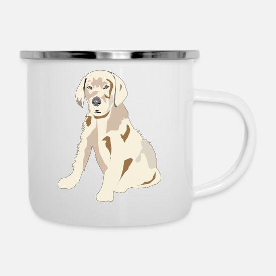 Labrador Mugs & Drinkware - Labrador Retriever Puppy - Enamel Mug white