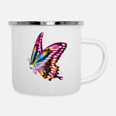 Children Butterfly - Enamel Mug