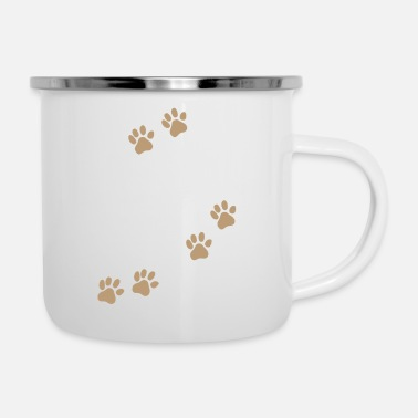 Rescue Dog Mom - white - Enamel Mug