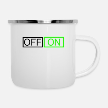 Off OFF or ON - Enamel Mug