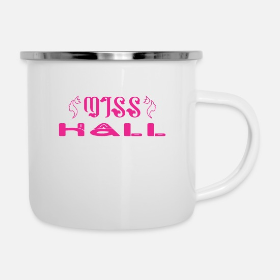 Hall Mugs & Drinkware - Miss Hall - Enamel Mug white