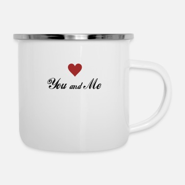 Date You and me Lovely Love T-Shirt for Couple - Enamel Mug
