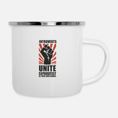 United Introverts Unite - Enamel Mug