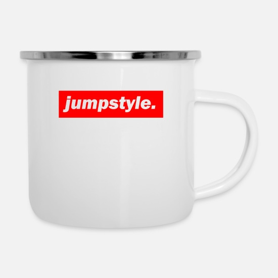 Bass Mugs & Drinkware - techno mischpult red bass bpm jumpstyle - Enamel Mug white