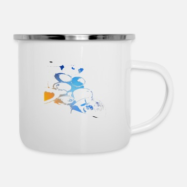 Set drum set - Enamel Mug