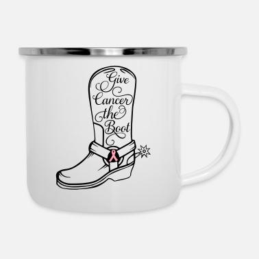 Cowboy Boots Cowboy boot - Give cancer the boot - Camper Mug
