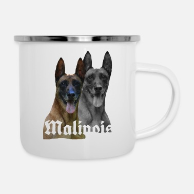 Malinois,dog head,dogsport,dog breed,dog lover, - Enamel Mug