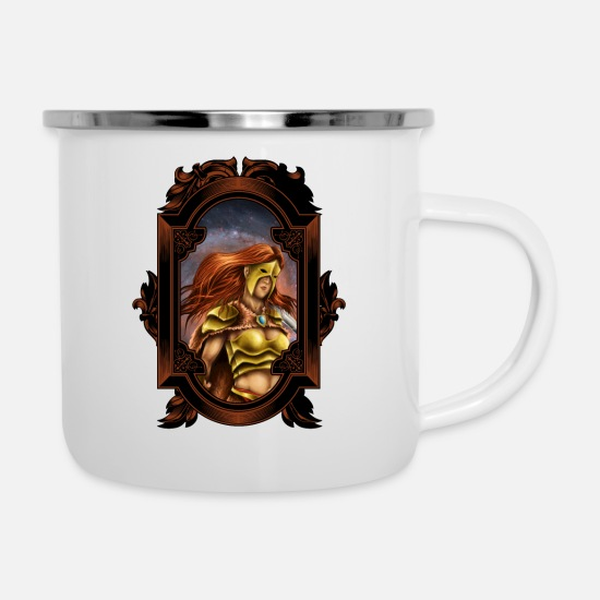 Honor Mugs & Drinkware - WARRIOR QUEEN - Enamel Mug white