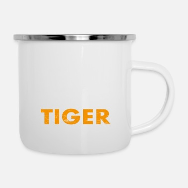 Save Save the tiger Save the planet - Enamel Mug