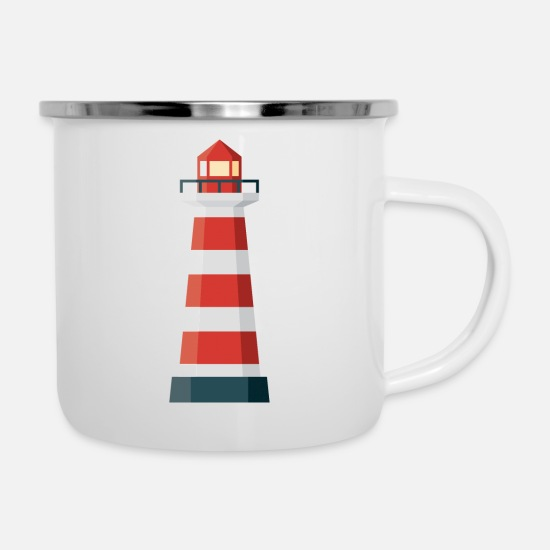 Lighthouse Mugs & Drinkware - Lighthouse - Enamel Mug white