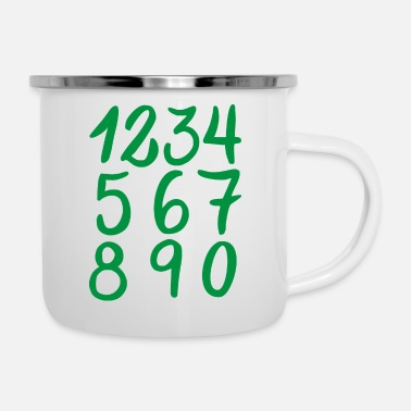 Collections Numbers Collection - Enamel Mug