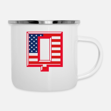Against Q USA - Enamel Mug