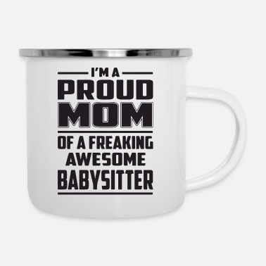 Pregnancy proud mom of - Enamel Mug