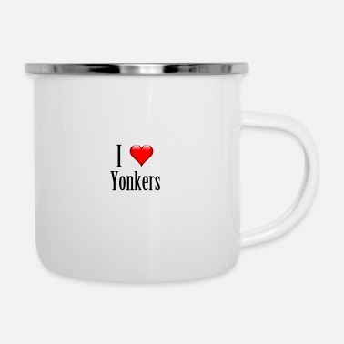 Country I love Yonkers. Just great! - Enamel Mug