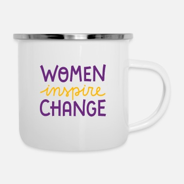 Congratulations Women's Day Women's Day saying - Enamel Mug