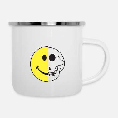 Icon Smiling Graphic Icon Skull Gift - Enamel Mug