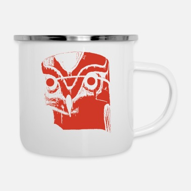 Totem Pole Indian Totem Owl as Gift Idea - Enamel Mug