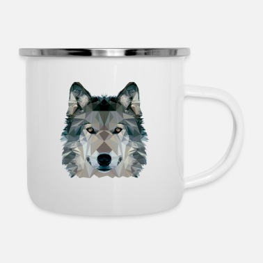 Clip Art Wolf Face Low Poly Design, Wolf Face Clip art - Camper Mug