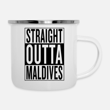 Home Town Land Country State Maldives - Enamel Mug