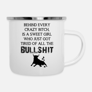 Bull Tired of the bullshit - Camper Mug