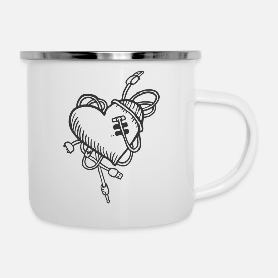 Cartoon Mugs & Drinkware - Cartoon - Enamel Mug white