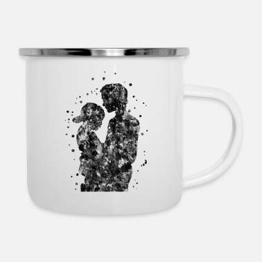 Son Father and son, father with son - Enamel Mug