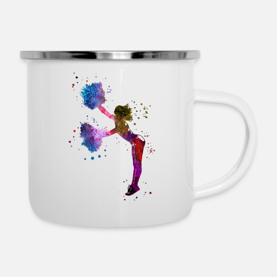 Cheerleader Mugs & Drinkware - Cheerleader - Enamel Mug white