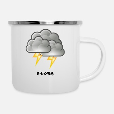 Black And White Storm - Enamel Mug
